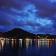 blue hour from jayapura