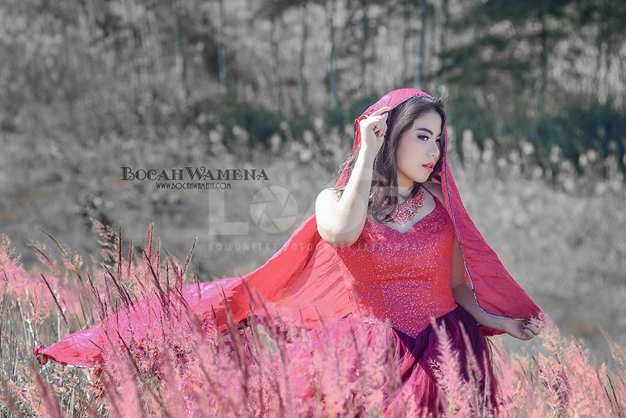 Gadis Bergaun Merah